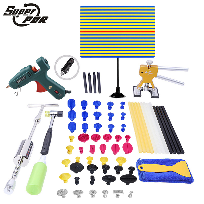 PDR Tools ferramentas Paintless Dent Repair Tools Dent Removal Tools Dent Puller LED Lamp Reflector Board Hand Tool Set PDR Kit pdr tools for car tool set paintless dent repair tools dent puller led lamp reflector board hand tool set pdr kit