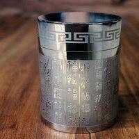 EDC Pure titanium sealed tea cans medicinal storage tank sealed storage box large capacity sealed Equipment Outdoor Camping Tool