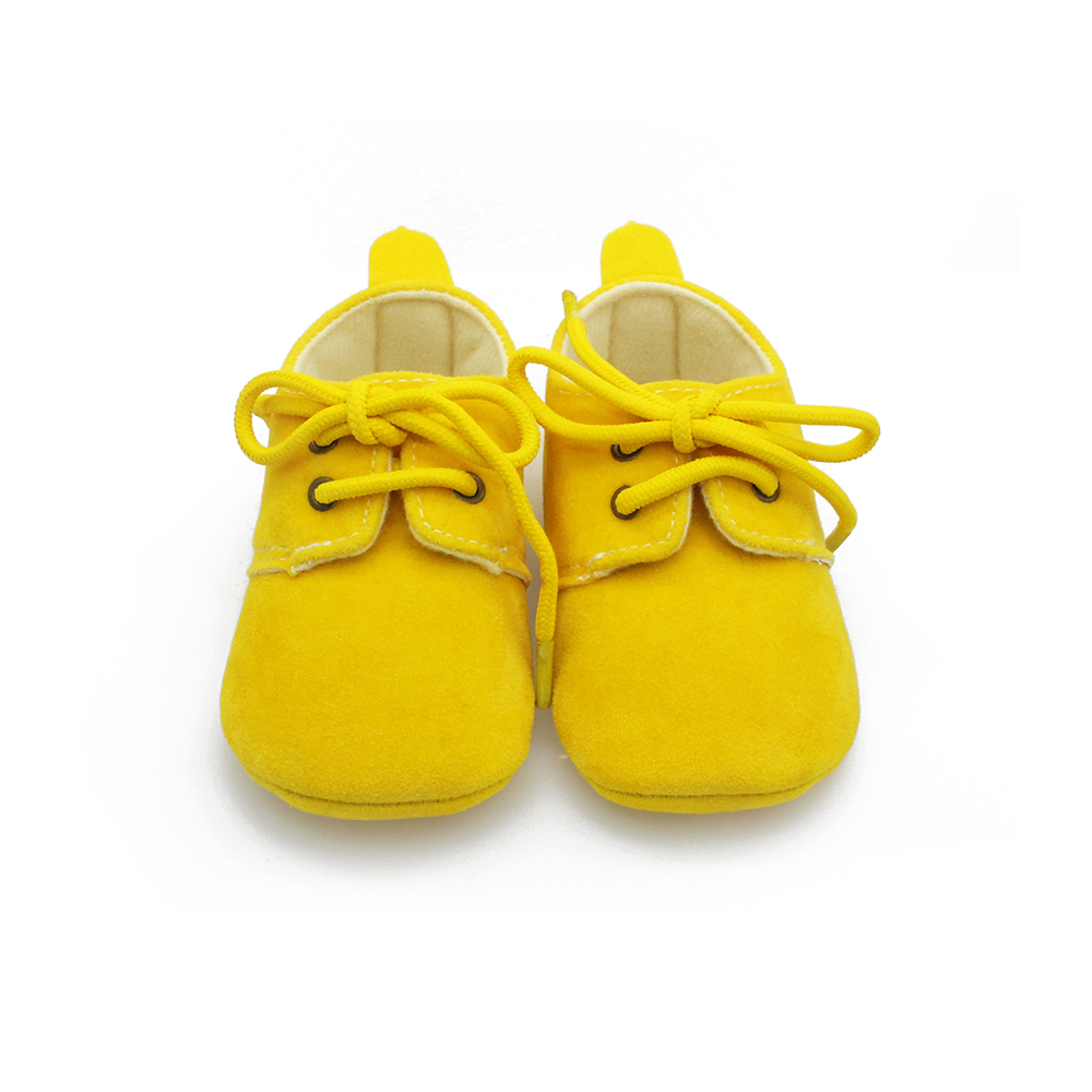 Solid Cotton Baby Shoes  Lace- Up Shallow Fashion Shoes First Walkers Handmade High Quality Baby Shoes For 0-2 Years Old 2017
