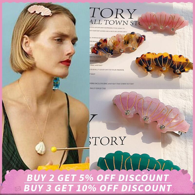 Fashion Shell Hair Clip Barrette Hairpins Duckbill Clip Hair Claw Styling Tool Alloy Metal Hairpin Sea Hair Clips for Women Girl
