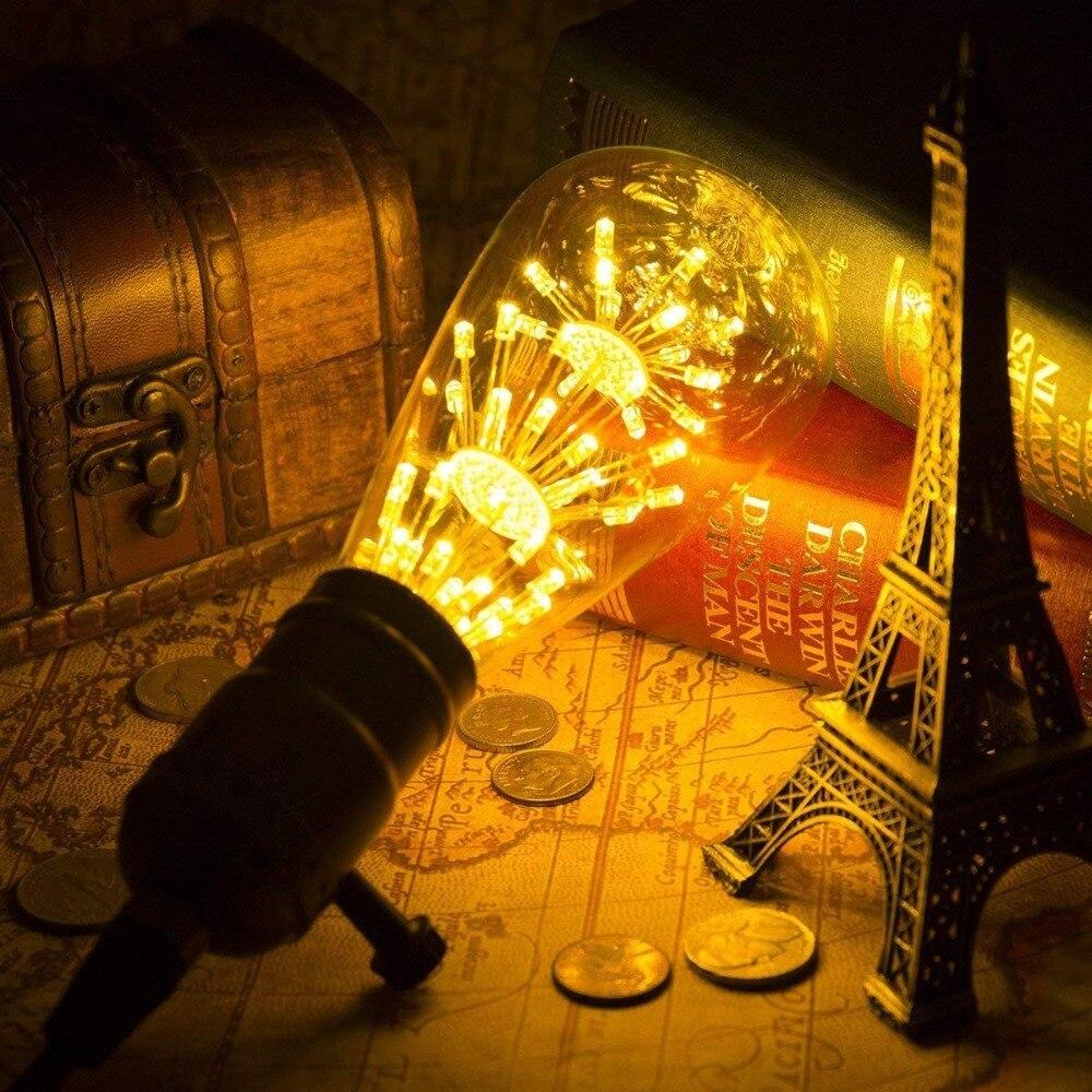 Image 3 - ST64 G95 A60 Starry Sky Dimmable led Bulb 3W 2200K E27 220V Wine Bottle Decorative Christmas Firework Lightbulb Lamp Lampada Led-in LED Bulbs & Tubes from Lights & Lighting