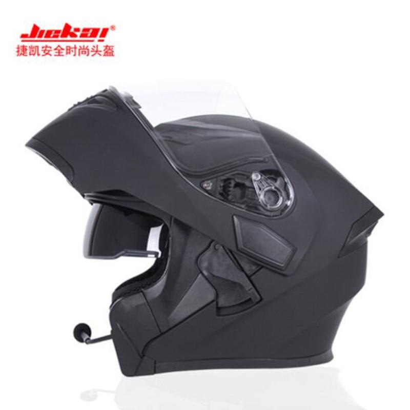 2017 Hiver Nouveau JIEKAI Flip Up casque de moto JK902 undrape visage Moto casques en ABS PC visière lentille avec Bluetooth