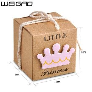 Image 4 - WEIGAO 20 個/40 個クラフト紙キャンディーボックスのベビーシャワーのギフトゲスト誕生日パーティー Babyshower 少年少女ギフトバッグパーティー用品