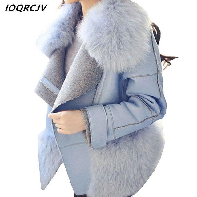 c39eefb1a8d 2018 Autumn Vintage Fluffy Faux Fur Coat Women Short Furry Fake Fur Winter  Outerwear Pink Coat