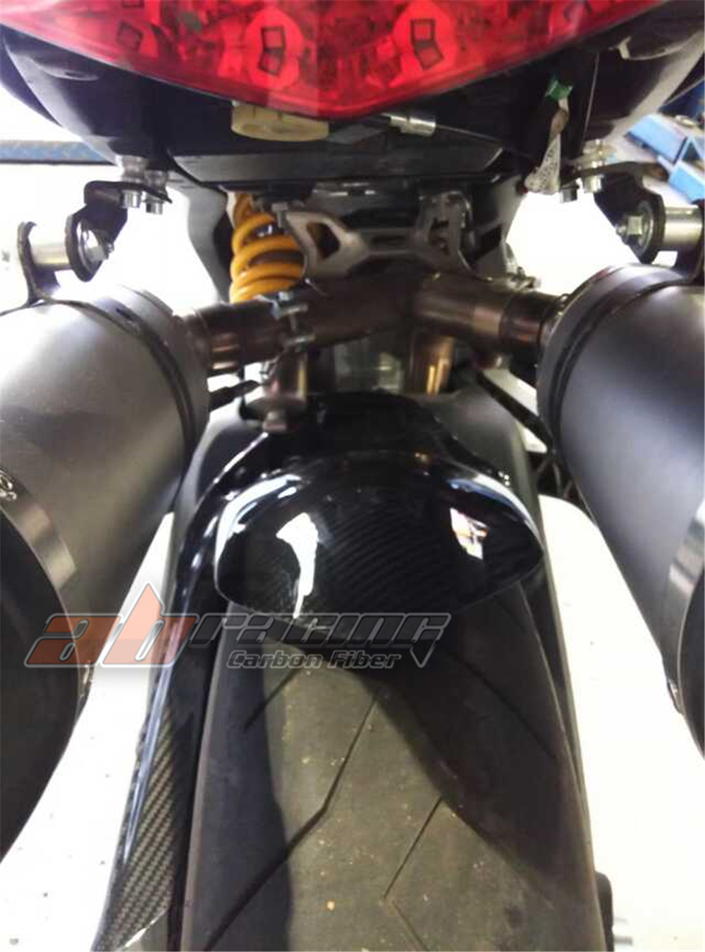 Rear Hugger For Ducati Monster 696 795  Full Carbon Fiber 100% Twill yandex w205 amg style carbon fiber rear spoiler for benz w205 c200 c250 c300 c350 4door 2015 2016 2017