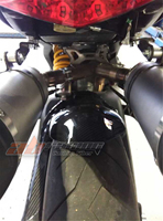 Rear Hugger For Ducati Monster 696 795 Full Carbon Fiber 100% Twill