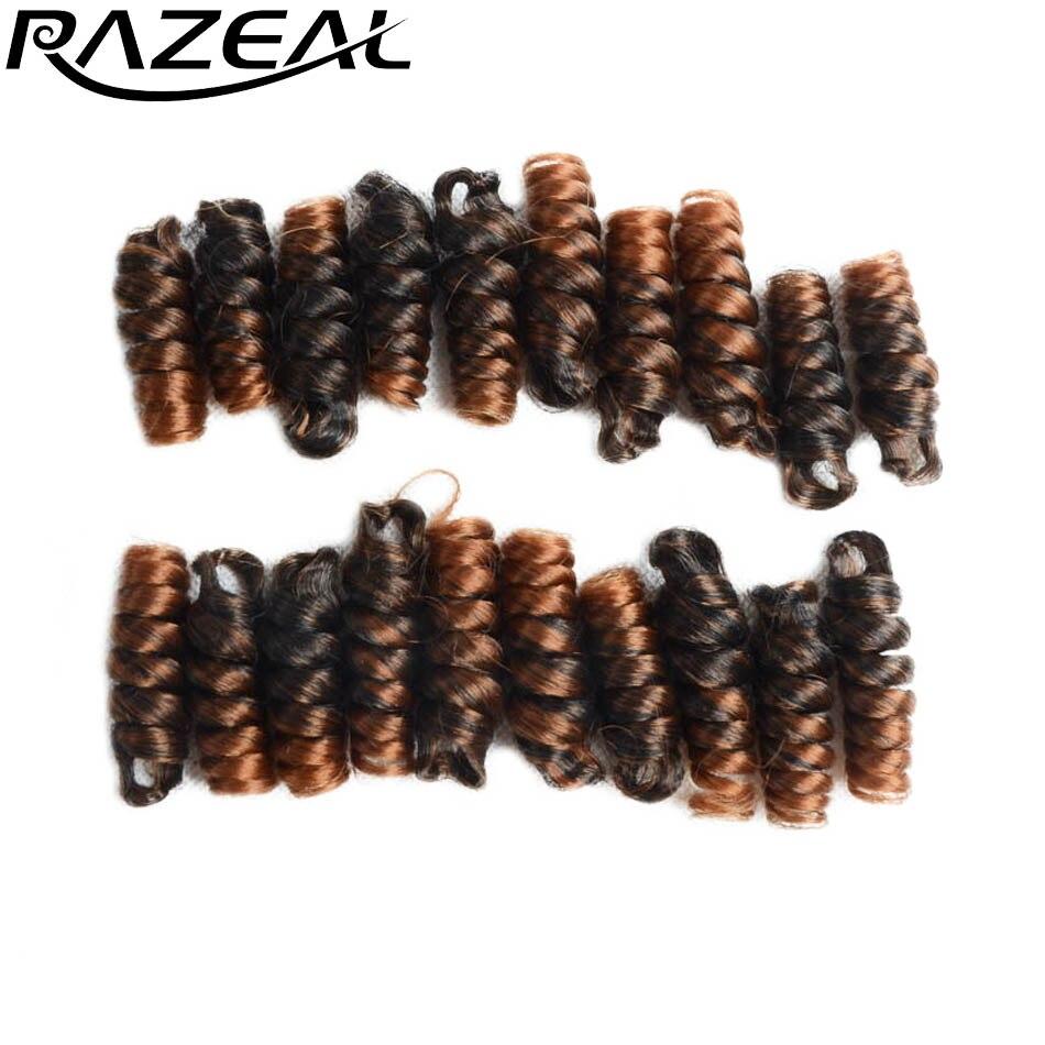 RAZEAL 8 упаковок вязанная косами Kenzie curl вязанная косами волос 6 дюймов 20 дюймов вьющиеся волосы плетение для отказов твист