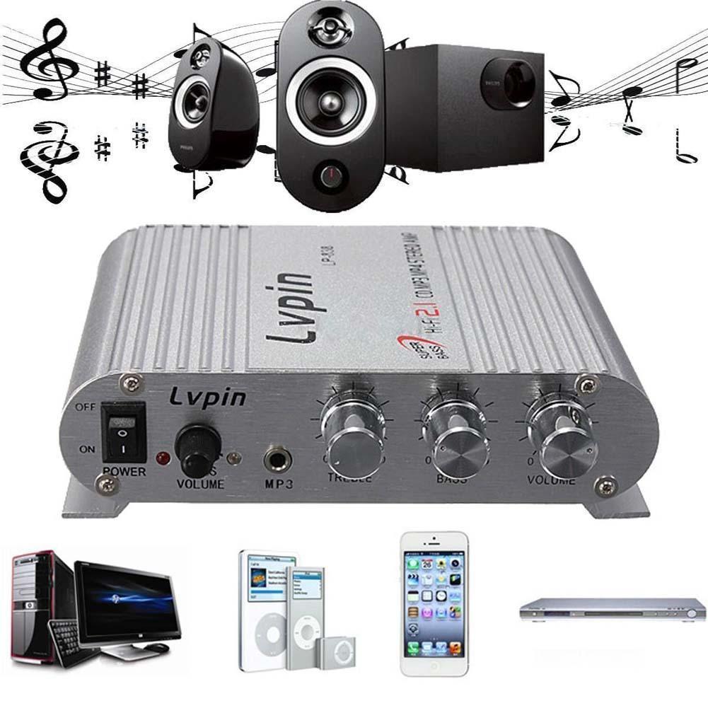 200 W Mini Hi-Fi 2.1 Amplificatore Radio MP3 Stereo Per Auto Moto Casa