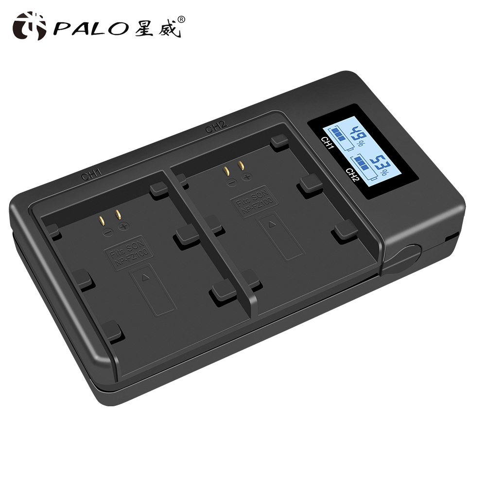 PALO NP-FZ100 NPFZ100 FZ100 Battery Charger for Sony Alpha a9, Alpha a7R III, A7R MARK 3, Alpha a7 III, A7 MARK 3PALO NP-FZ100 NPFZ100 FZ100 Battery Charger for Sony Alpha a9, Alpha a7R III, A7R MARK 3, Alpha a7 III, A7 MARK 3