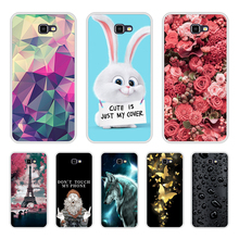 Phone Bags For Samsung Galaxy J7 Prime Case Cover For Samsung Galaxy On7 2016 Silicone Case Soft TPU For Samsung Galaxy G610 bag cheap Half-wrapped Case Dirt-resistant Anti-knock GALAXY J SERIES Animal cute Patterned Floral Quotes Messages Geometric Exotic