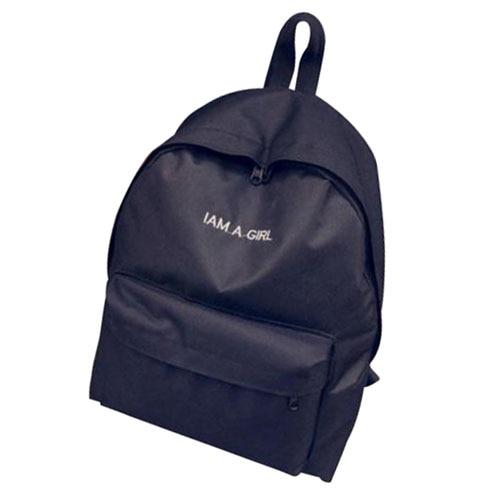 TFTP Girls Women Canvas School Bag Travel Backpack Satchel Shoulder Bag Rucksack Black