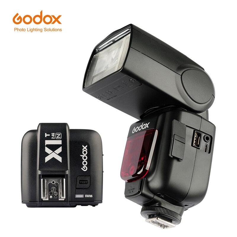 Godox TT685N 2.4G HSS i-TTL GN60 Wireless Flash + X1T-N TTL Trigger for Nikon D800 D700 D7100 D7000 D5200 D5100 D70S with X1T-N godox x1t n ttl 2 4g wireless flash trigger transmitter for nikon dslr camera d7100 d90 d750 godox tt685n tt600 flash gift kit