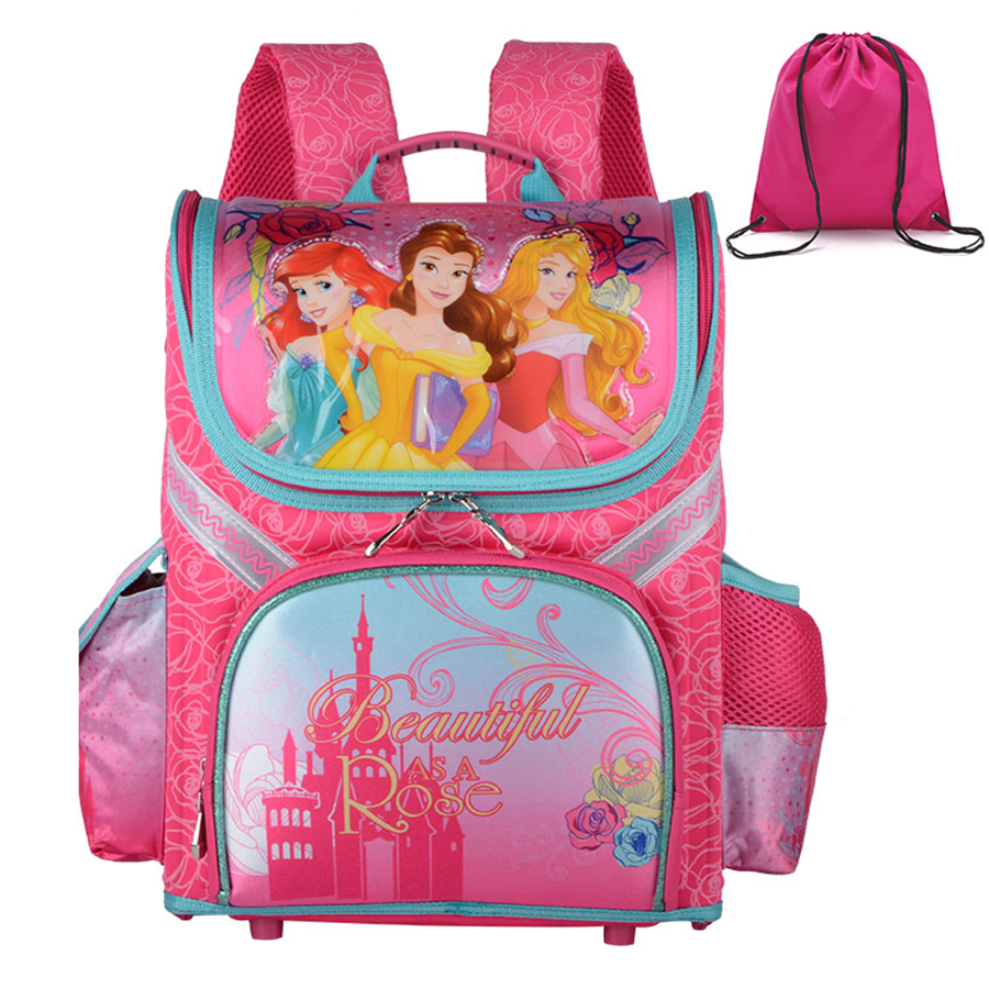 2a7f6deb969b New 2018 Antifreezing Material Girls Backpacks School Orthopedic Princess  Kids Packsack Children School Bags Child Boys Rucksack