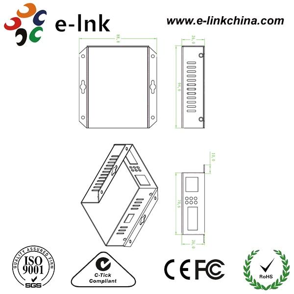 25,5W SM Dual Fiber 10/100 Mbps Fast Ethernet PoE / PSE Conversores - Equipamento de comunicação - Foto 3