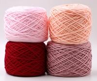 Hot Wholesale 1 balls/lot 200 grams Cotton soft acrylic Silk yarn Thick yarn for weaving scarf