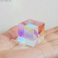 Красочный комбинированный сплиттер крест дихроический куб RGB Призма Оптическое стекло треугольная призма для обучения светильник физика спектра 20 м