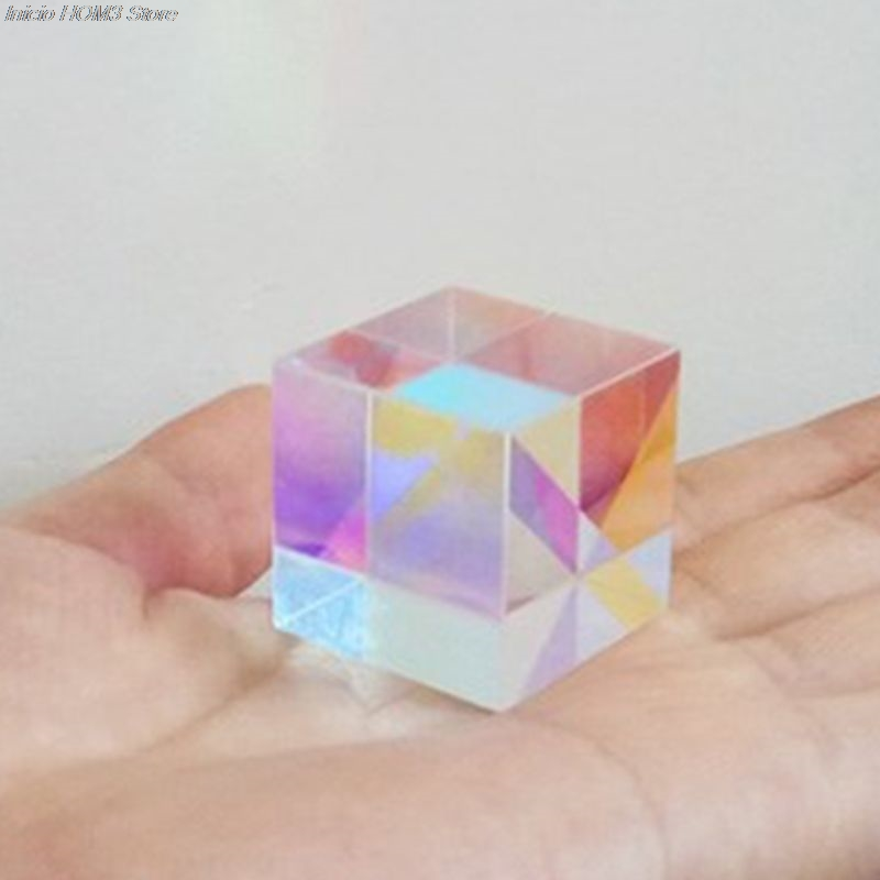 Colorful Combiner Splitter Cross Dichroic Cube RGB Prism  Optical Glass Triangular Prism For Teaching Light Spectrum Physics 20m