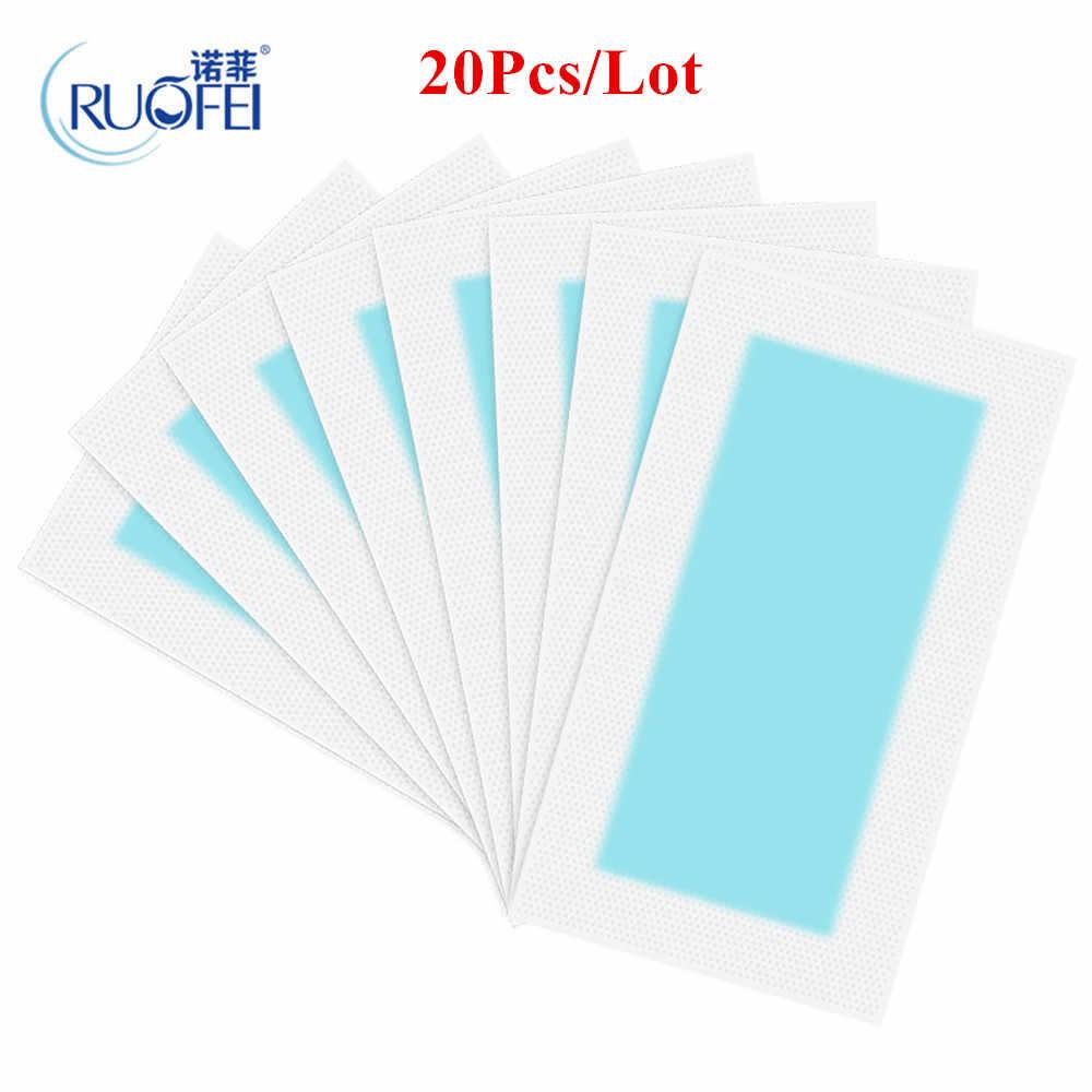 20 adet = 10 levhalar Yaz Yeni Sıcak Satış Profesyonel tüy Dökücü Çift Taraflı Soğuk Balmumu Şeritler Kağıt Bacak vücut Yüz 1761817
