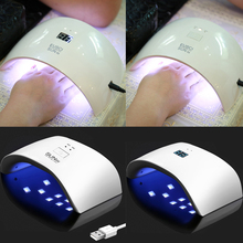 SUNX 24W 36W Nail Dryer UV LED Nail Lamp Gel Polish Curing Lamp with Bottom 30s/60s/90s Timer LCD Display Lamp for Nail Dryer new nail led uv lamp dryer metal bottom lcd timer multicolors for curing uv gel t32