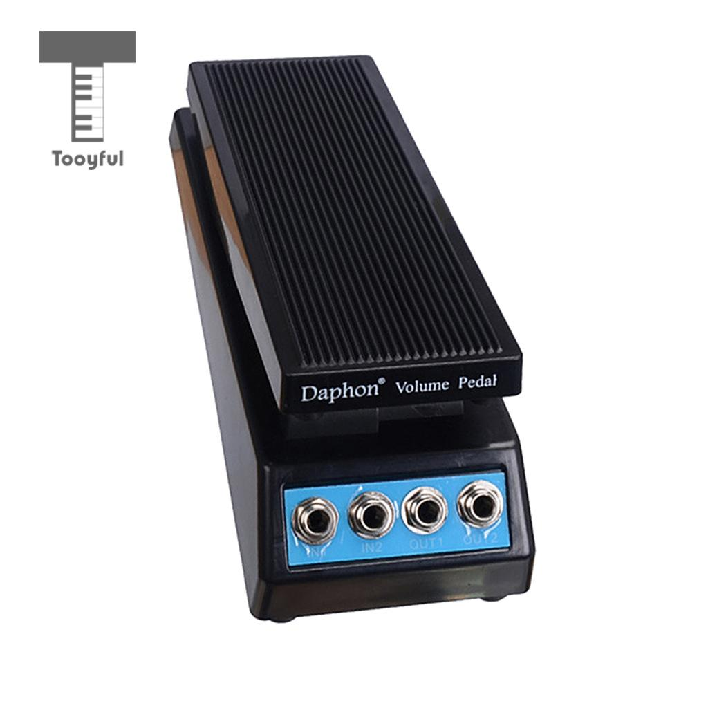 Tooyful Guitar Stereo Sound Volume Pedal DJ Band Guitar Effect Pedal with Amplitude Adjusted Knob DF1511A Instrument Parts