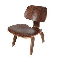 Modern Kontrplak Şezlong 2 Bitirmek Ceviz/Doğal Düşük Salonu Sandalye Oturma Odası Mobilya Ahşap Sandalyeler Accent Için Ahşap sandalyeler