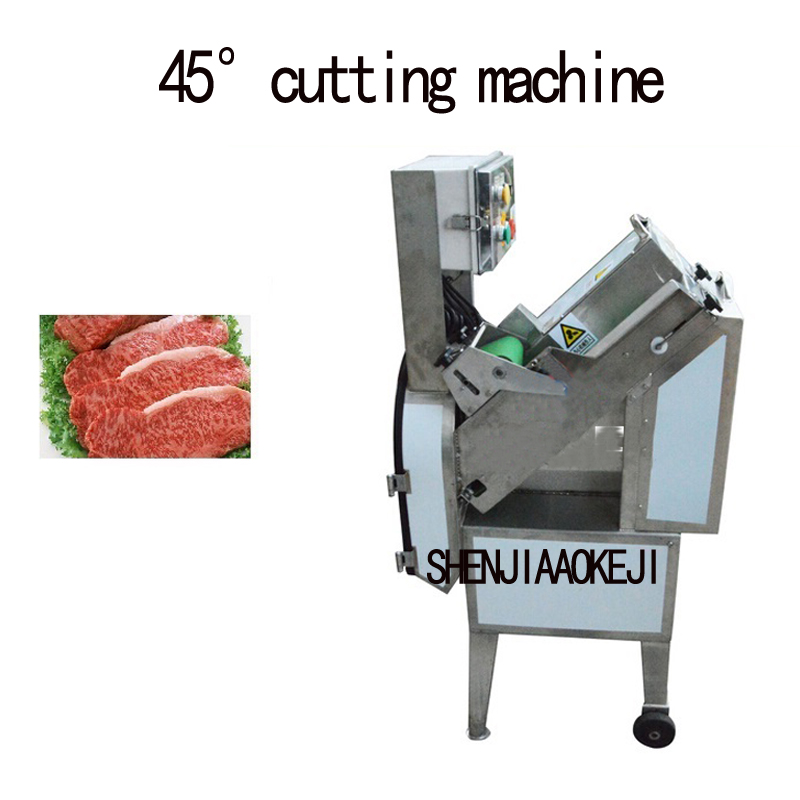 JY-45 45degree Fruit / Vegetable Meat Slicer Cutting Machine Ham Sausage Oblique Slicer 380V 950W 1PC