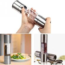 Home Useful Kitchen Tool 2 In1 Stainless Steel Manual Pepper Mill Grinder Spice Mill
