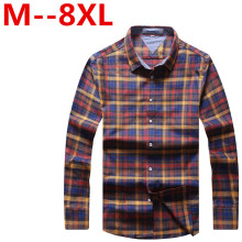 Spring Fall Ali New Mens Casual Plaid Shirts Long Sleeve Slim Fit Comfort Soft Flannel Cotton Shirt Leisure Styles Man Clothes