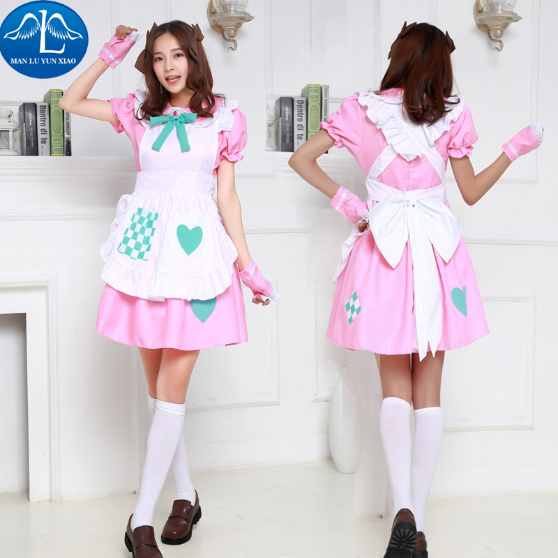 MANLUYUNXIAO Hot Sale Women Costume Lolita Dress Maid Cosplay Costume Carnival Party Halloween Costumes For Women