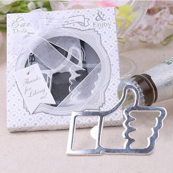 24PCS/LOT Party favor Wedding Gifts Silver or Gold color Thumbs Up Beer Bottle Opener Christmas Gift Free shipping