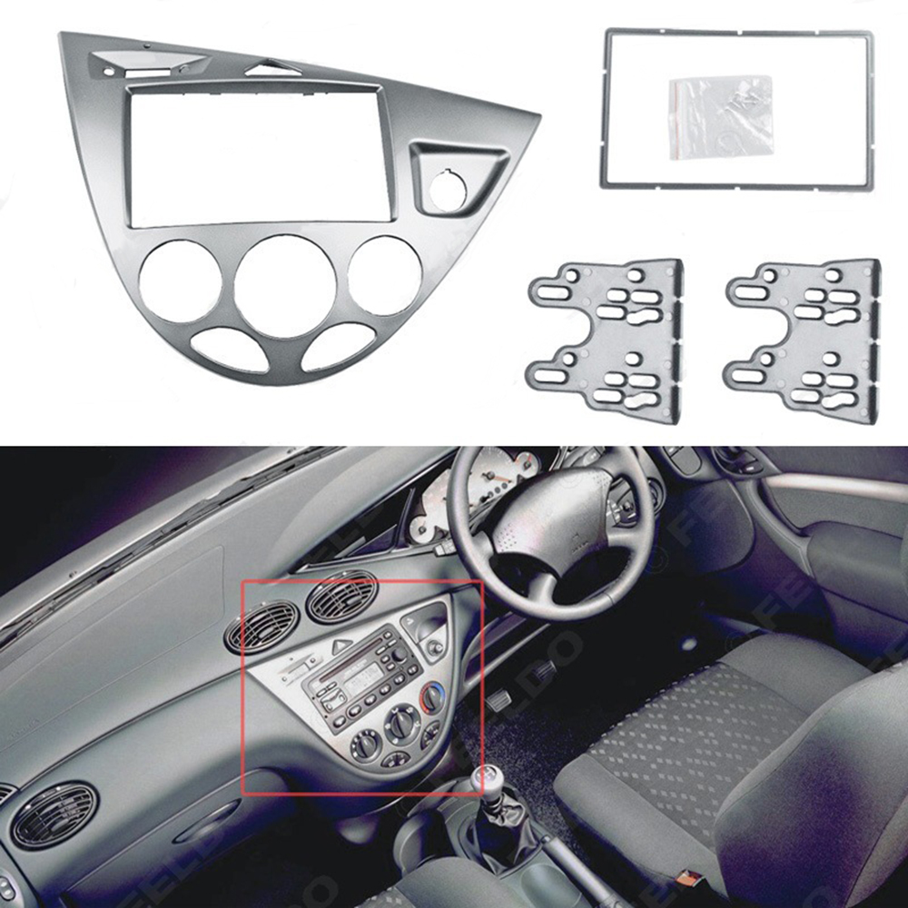 Für <font><b>Ford</b></font> <font><b>Focus</b></font> Fiesta 1995 ~ 2004 Blenden Auto <font><b>Radio</b></font> Rahmen Auto DVD Stereo-Panel Dashboard Mount Adapter Trim Blenden image