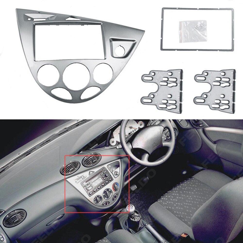 Pour Ford Focus Fiesta 1995 ~ 2004 Fascias cadre autoradio Auto DVD stéréo panneau tableau de bord montage adaptateur garniture Fascias