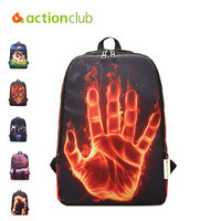 Actionclub Children Outdoor Climbing Bag Canvas Travel Bags Cartoon Printing Backpacks Trekking Backpack For Kids Sports