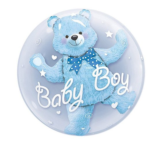 24inch Baby Boy Bear or Girl Blue Pink Bubble Bear Foil Balloons Birthday Baby Shower Decorations Kids Toys Ball in Ball-in Ballons & Accessories from Home & Garden