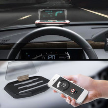 Car HUD Head Up Display Speed Warning GPS Navigation HUD Bracket Head Up Display For Smart Mobile Phone Car Stand Folding Holder