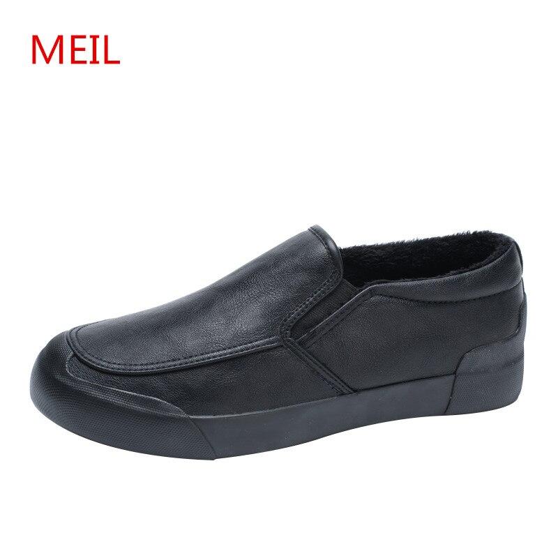 1 Fourrure Mode Casual Luxe Mocassins Appartements Meil 3 2 2018 Chaussures Hommes De Hiver l3T1JcuFK