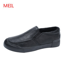 MEIL Winter shoes Men Loafers Moccasins Fashion Fur Loafer 2018 Casual Shoes Luxury Flats