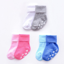 Girls Socks Anti-Slip Toddler Cotton Children for Candy-Color 1-3-Years