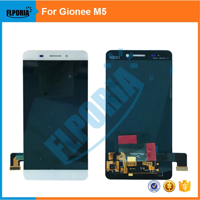 FLPORIA  For Gionee M5 LCD Display With Touch Screen Digitizer Assembly Replacement Parts Black/White/GoldFLPORIA  For Gionee M5 LCD Display With Touch Screen Digitizer Assembly Replacement Parts Black/White/Gold