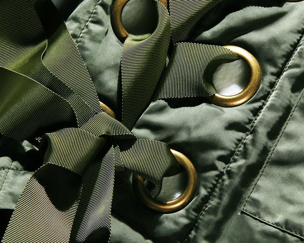 Manteau Twotwinstyle Artificielle Manches Grand Veste Army Taille Fourrure Parka Lacent Haut À D'hiver Femelle De Femmes Grande Vêtements Longues Capuchon Coréen Green EH2D9I