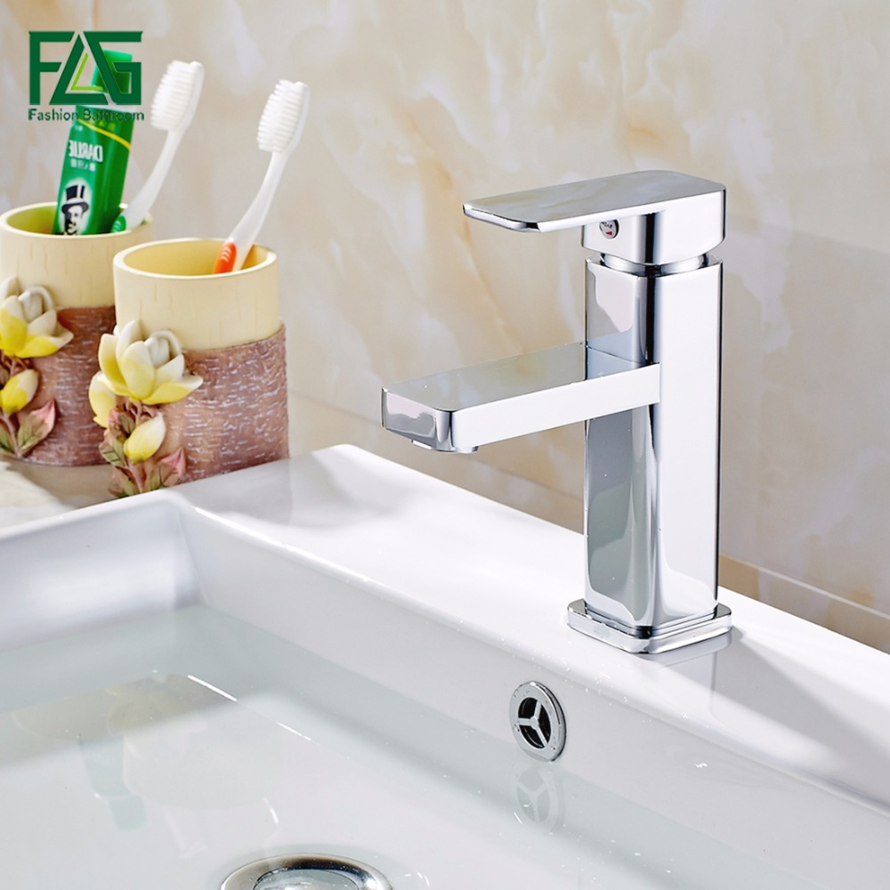 FLG Bathroom Basin Faucet Single Hole Chrome Brass Waterfall Deck Mounted Cold and Hot Bathroom Vanity Water Taps Crane 105-11 niko 50pcs chrome single coil pickup screws