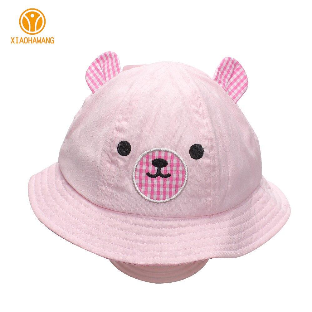 Cartoon Bear Baby Hats Cotton Boys Girls Caps With Ear Spring Autumn Baby Sun Hats Bear Girl Boys Cap Beanies Baby Boys Clothing