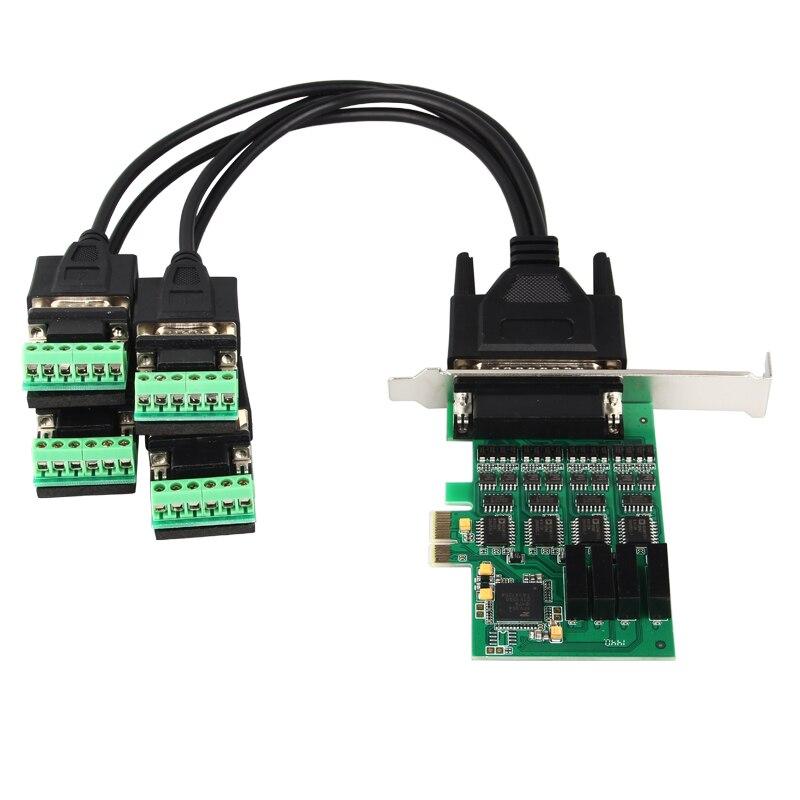 Seriais de Alta Chipset para Xr17v354 Qualidade Portas Velocidade Rs422 Rs485 Cartão Pci Express Pcie Melhor Preço Boa 4