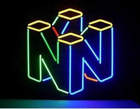 Custom Nintendo 64 Glass Neon Light Sign Beer Bar