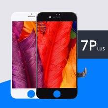 5 ADET Sınıf AAA + + + LCD iPhone 7 Artı LCD Değiştirme Için dokunmatik ekranlı sayısallaştırıcı grup Ekran Yok Ölü Piksel Ücretsiz kargo