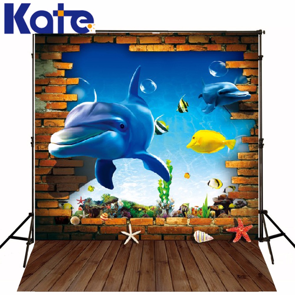 600CM*300CM Kate Backdrops For Photography fantasy 3D Fish Baby Wood Photography Backdrop Background LK 018 600cm 300cm background closed flowerpot ground photography backdropsvinyl photography backdrop 3300 lk
