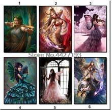 5D Needlework DIY Diamond Painting Butterfly Fairy Cross Stitch Woman Embroidery Home Decoration Mosaic