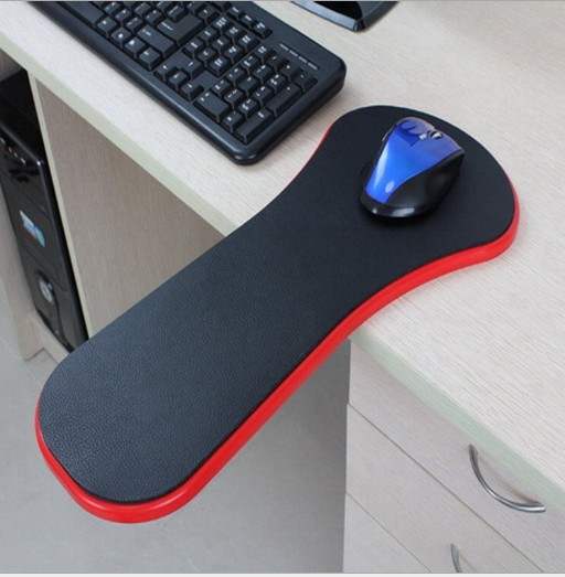 Black Ergonomic Healthy Computer Armrest Mouse Pad Chair Desk Support Hand Arm