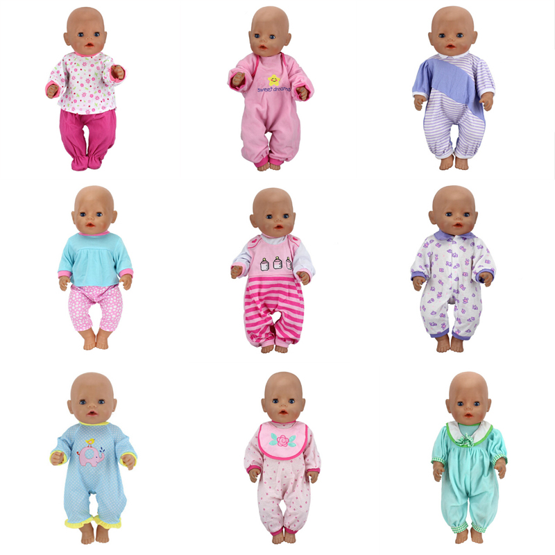 New Leisure Set ClothesFit For Born 43cm Doll Clothes For 17inch Baby Doll