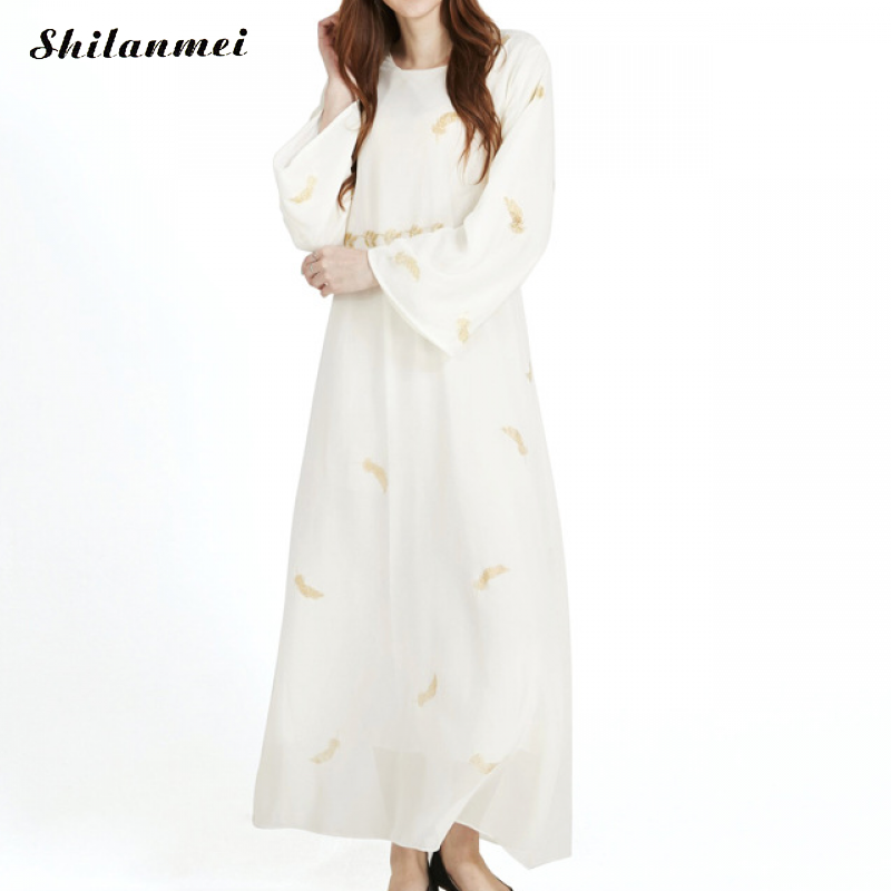 Fashion Muslim Dress Abaya Islamic Clothing For Women Malaysia Jilbab Djellaba Robe Causal Loose Chiffon Turkish Kaftan Kimono